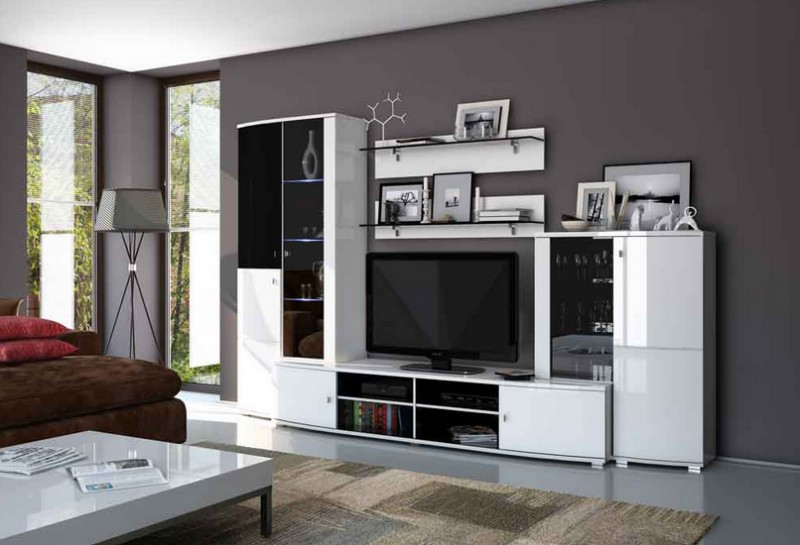 Белая мебель для гостиной фото