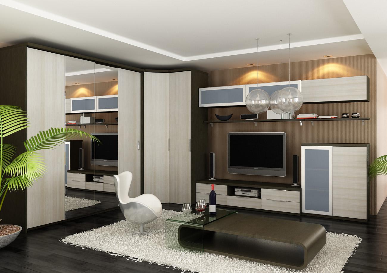 Дизайн Шкафа В Гостиной