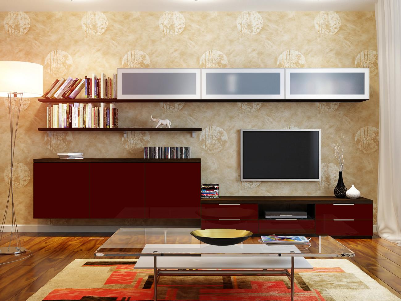 Стенки в стиле модерн мебель фарт.